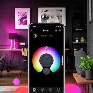 controlar luces inteligentes móvil