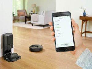 robot aspirador inteligente control móvil aplicación